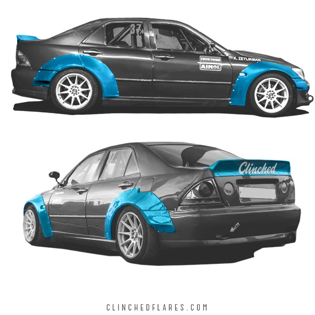 Lexus IS300 widebody kit 5