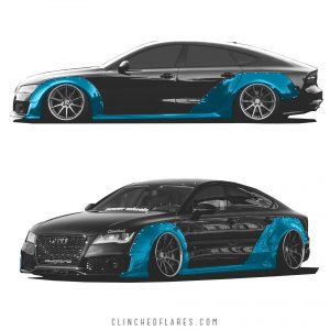 Audi A7 widebody kit