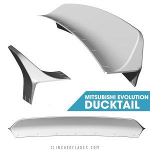 Mitsubishi Evo 7/8/9 Ducktail Spoiler