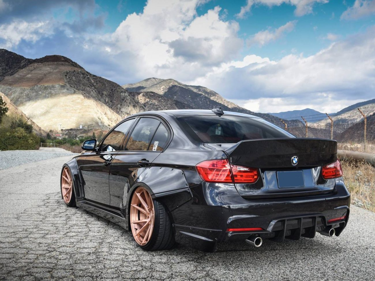BMW 3-series F30 Ducktail Spoiler by Clinched Flares
