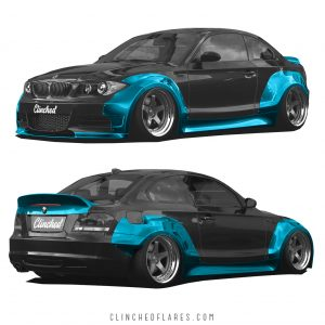 BMW E82 widebody kit