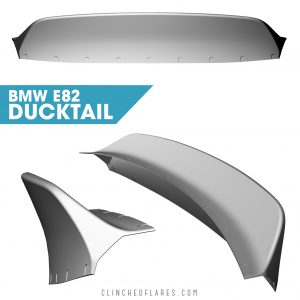 BMW E82 ducktail spoiler